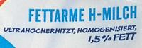 Fettarme H-Milch - Ingredienti - de