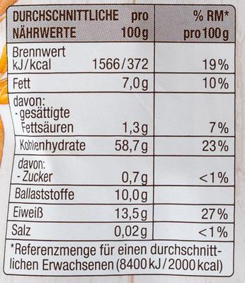 Hafer Flocken extra zart - Voedingswaarden