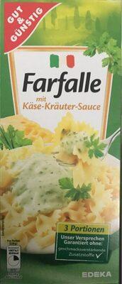Farfalle mit Käse-Krauter-Sauce - Produkt - de