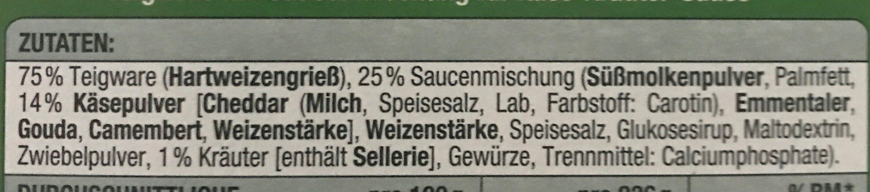 Farfalle mit Käse-Krauter-Sauce - Zutaten - de