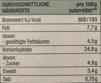 Farfalle mit Käse-Krauter-Sauce - Nährwertangaben - de