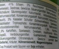 Erbsen-Eintopf mit Kassler Schulter und Rauchspeck - Zutaten - de