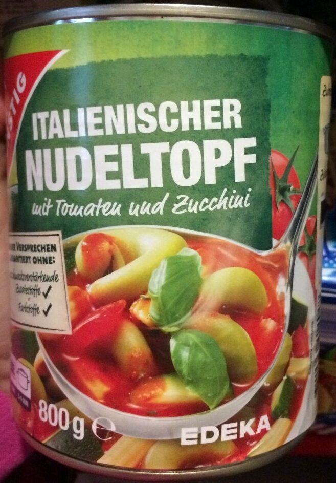 Italienischer Nudeltopf mit Tomaten und Zucchini - Produit