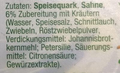 Kräuterquark 40% Fett i. Tr. - Ingredienti - de