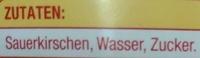 Sauerkirschen entsteint - Ingredients - de