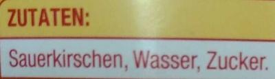 Sauerkirschen entsteint - Ingrédients - de