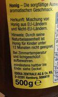 Honig - Ingrédients