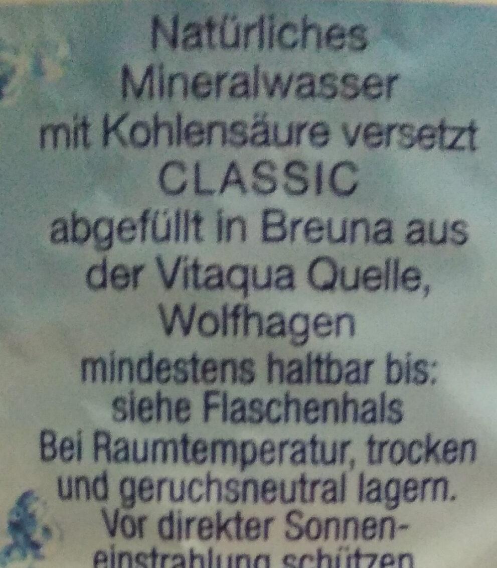 Mineralwasser – Classic mit Kohlensäure - Ingredienti - de