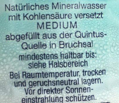 Mineralwasser medium - Ingrédients