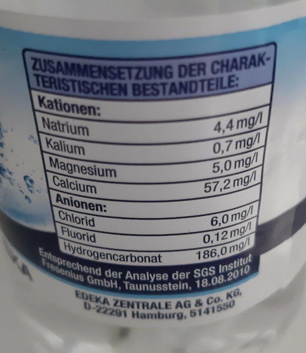 Natürliches Mineralwasser Classic - Valori nutrizionali - de