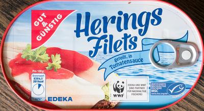 Herings Filets geteilt, in Tomatensauce - Produkt