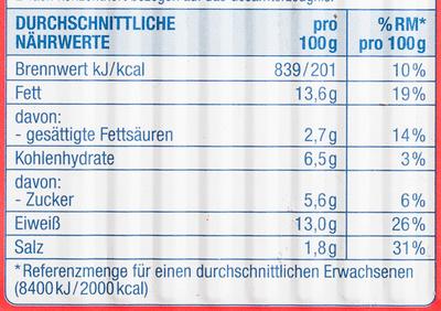 Herings Filets geteilt, in Tomatensauce - Nährwertangaben