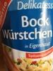 Gut und Günstig Delikatess Bock Würstchen in Eigenhaut - Produit