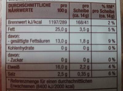 Delikatess Bacon, mild geräucherter Frühstücksspeck - Nährwertangaben - de