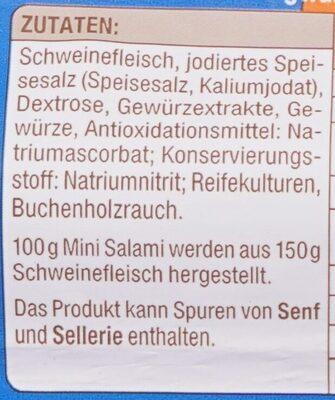 Delikatess Mini Salami geräuchert - Zutaten - de