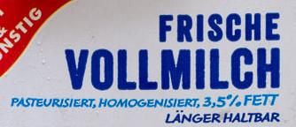 Frische Vollmilch - Ingrédients