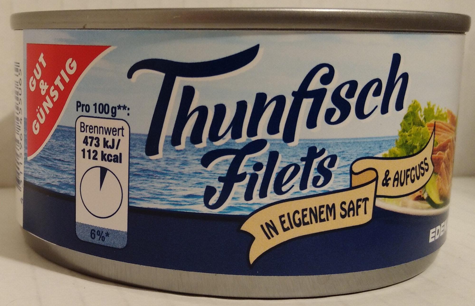 Thunfischfilets in eigenem Saft & Aufguss - Produkt - de