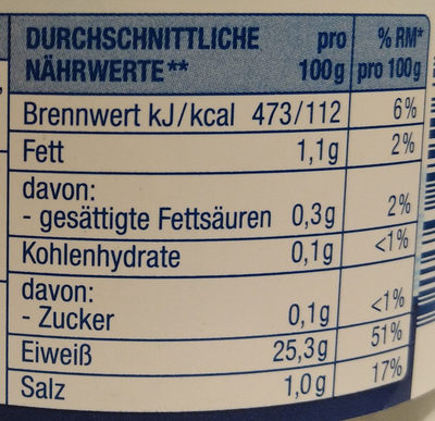 Thunfischfilets in eigenem Saft & Aufguss - Nährwertangaben - de
