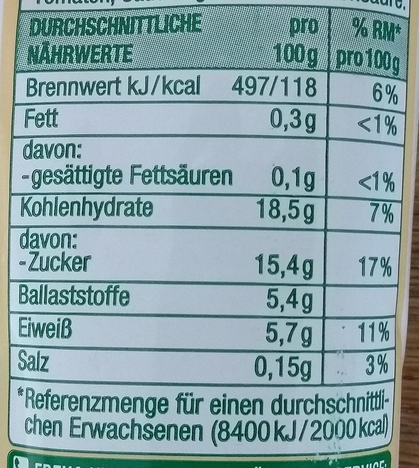 Tomatenmark 3fach konzentriert - Nutrition facts - de