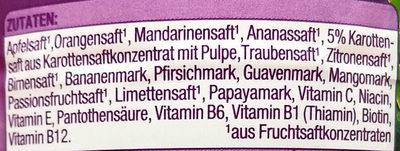 Multivitaminsaft - Ingrediënten