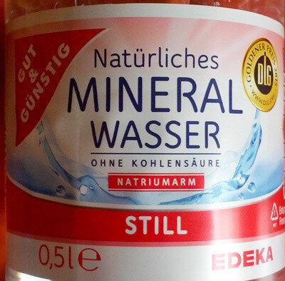 Natürliches Mineralwasser ohne Kohlensäure - Prodotto - de