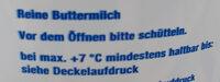 Reine Buttermilch - Ingredients - de