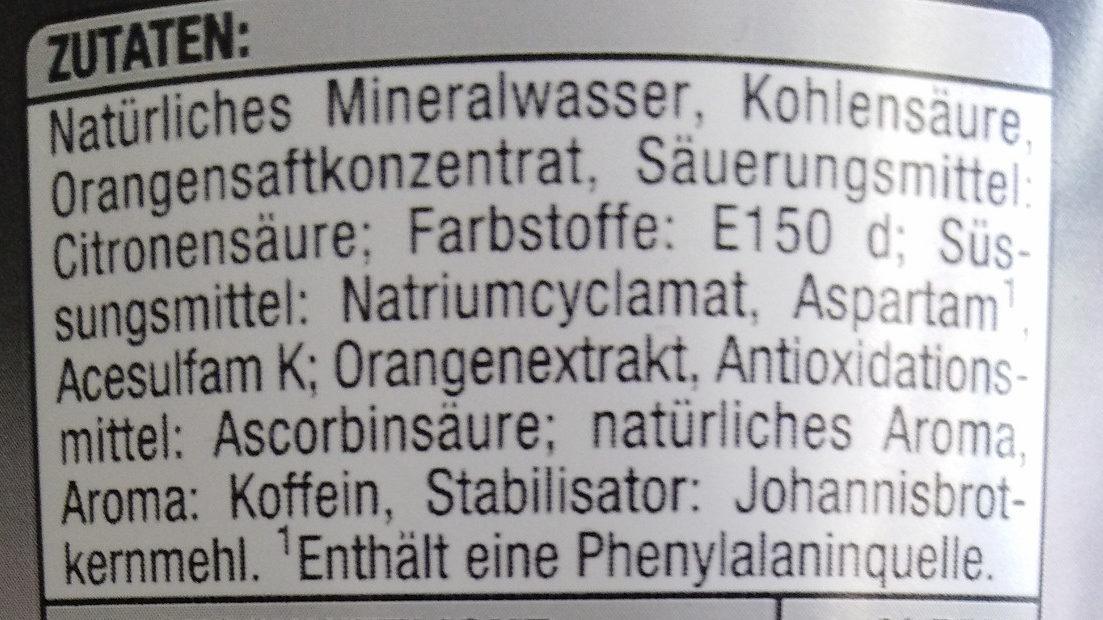 Cola Mix Zero - Ingredienti - de