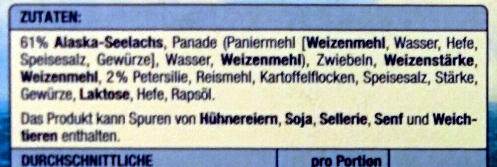 Fischburger - Ingredienti - de