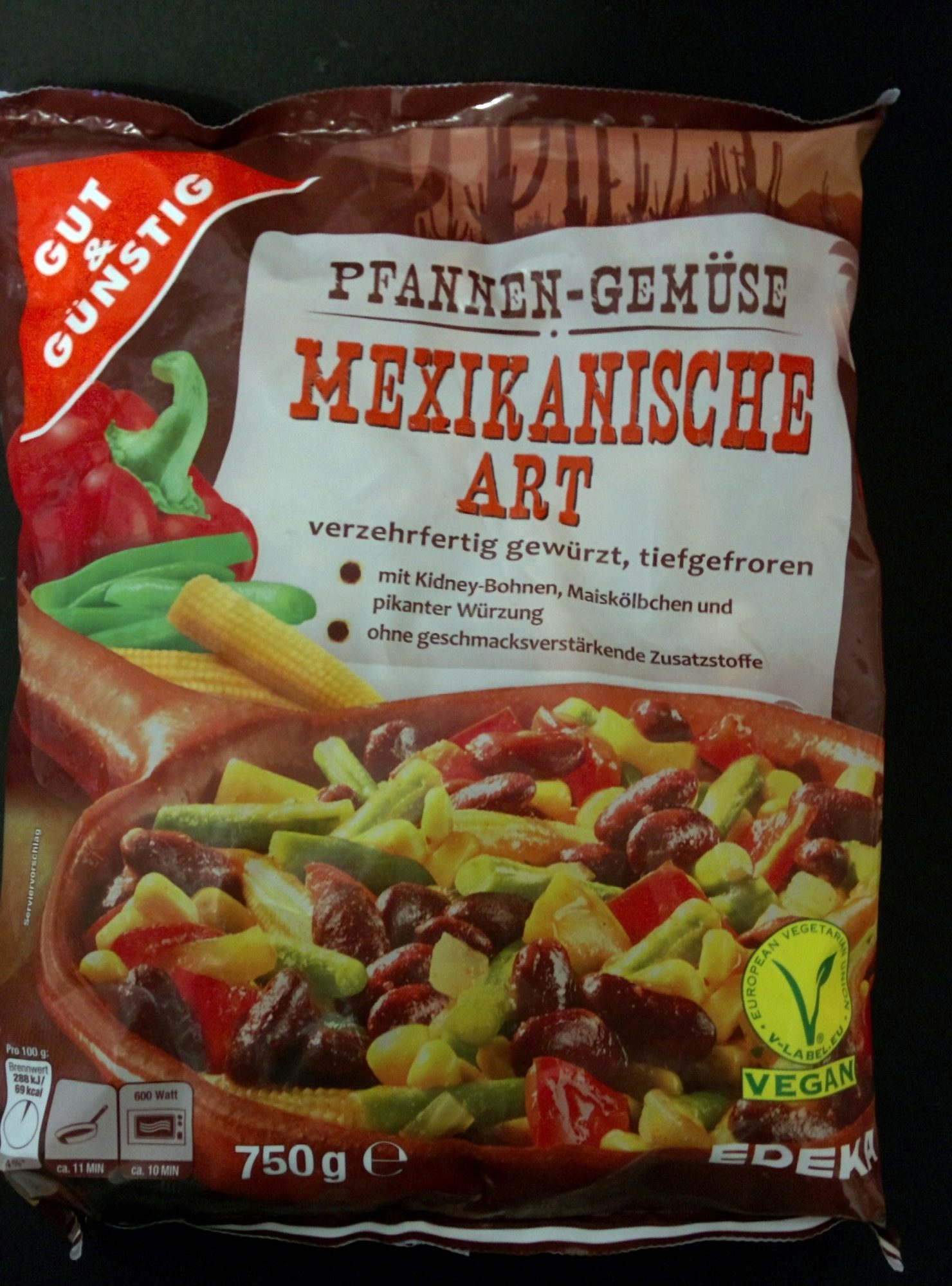 Pfannen-Gemüse mexikanische Art — Gut & Günstig — 750g