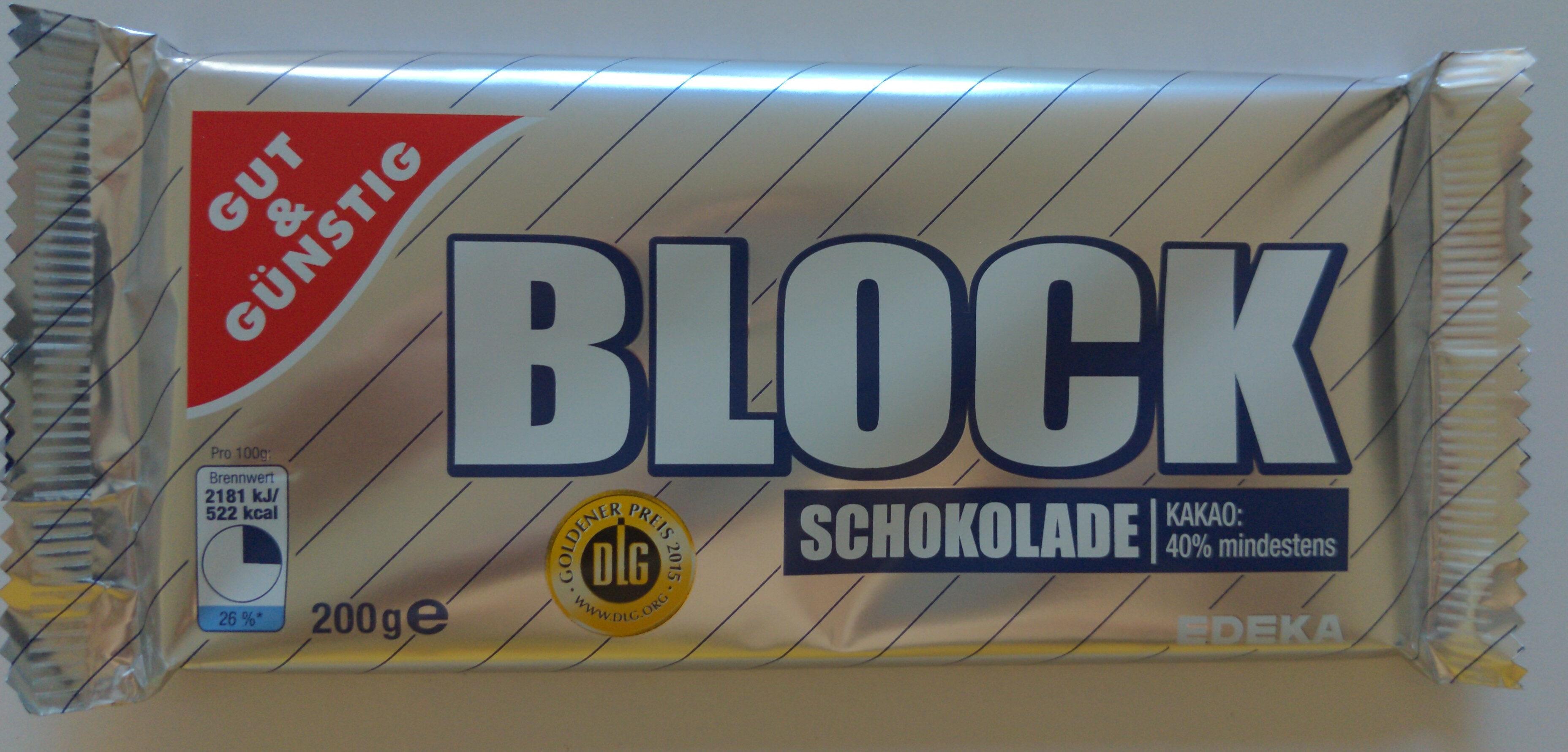 Blockschokolade - Product - de