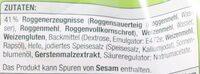 Roggenbrötchen - Ingredients - de