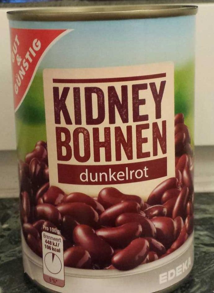 Kidney Bohnen dunkelrot - Produkt - de