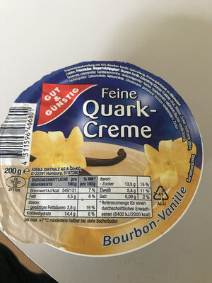 Feine Quark-Creme, Bourbon-Vanille - Produit