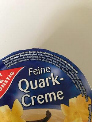 Feine Quark-Creme, Bourbon-Vanille - Ingrédients