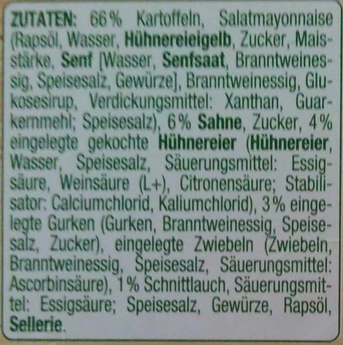 Kartoffelsalat - Inhaltsstoffe - de