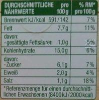 Kartoffelsalat - Nährwertangaben - de