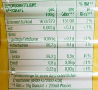 Zitronen Teegetränk - Voedingswaarden