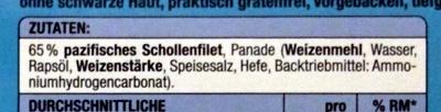 Pazifische Schollenfilets - Ingredients - de