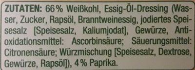 Weißkraut Salat - Zutaten - de