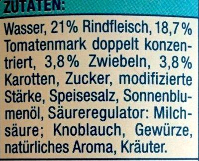Bolognese mit 21% Rindfleisch - Ingrédients