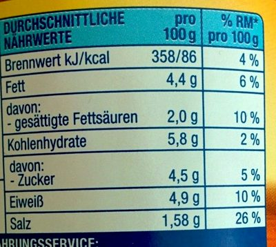 Bolognese mit 21% Rindfleisch - Informations nutritionnelles