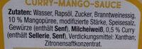 Papa Joe s Curry Mango - Ingrediënten - de