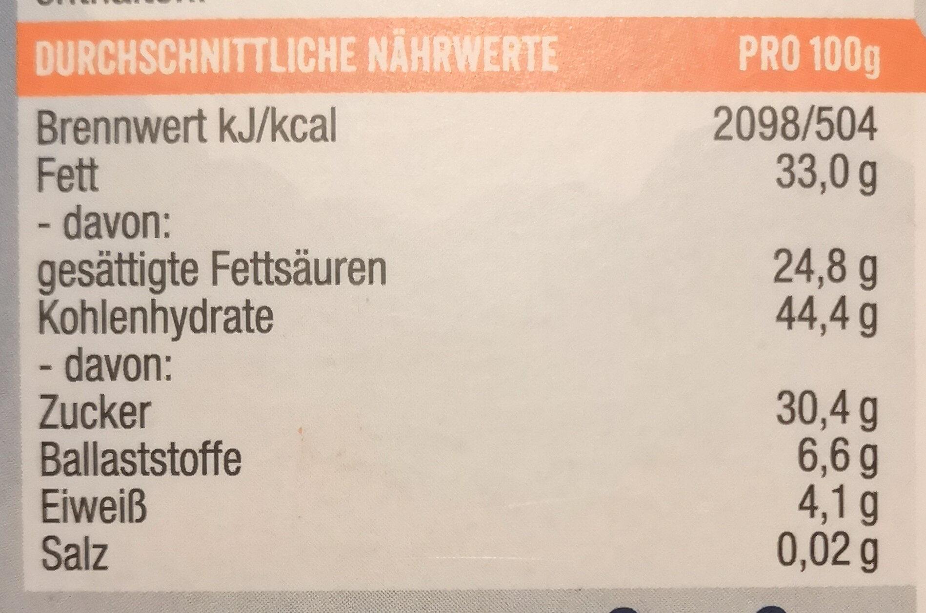 Jochen Schweizer Cocobar Mango - Voedingswaarden - de