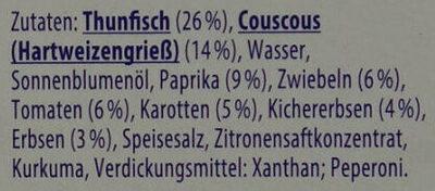 Thunfisch-Salat Couscous - Ingredients - de