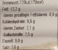 veggie bratwurst mit majoran - Nährwertangaben - de