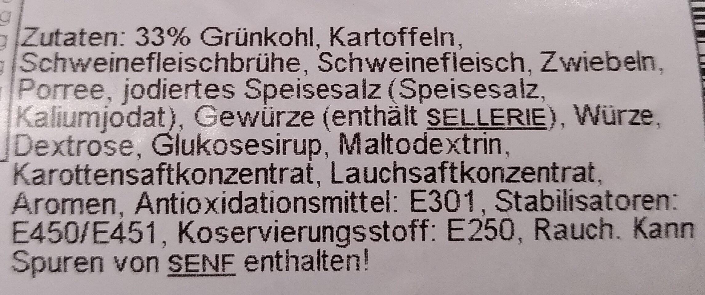 Grünkohleintopf - Ingrédients