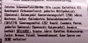 Linseneintopf - Ingrédients