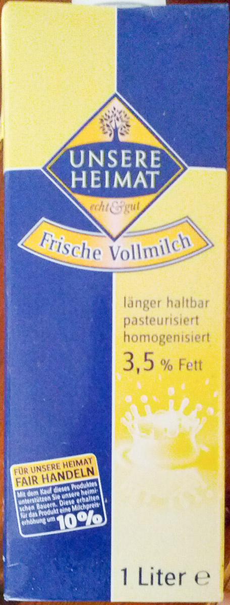 Frische Vollmilch - Produkt