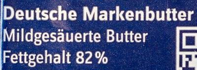Deutsche Markenbutter - Inhaltsstoffe - de