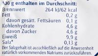 Cremige Quarkzubereitung Magerstufe - Nährwertangaben - de